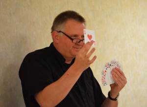 priests with cards
